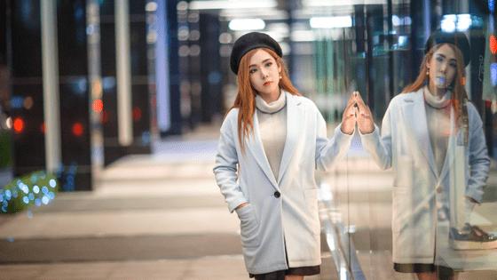 a Guangzhou girl in a mall