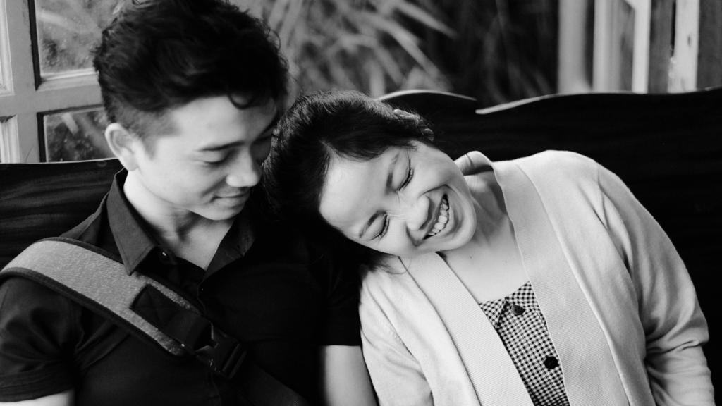 smiling taiwanese couple