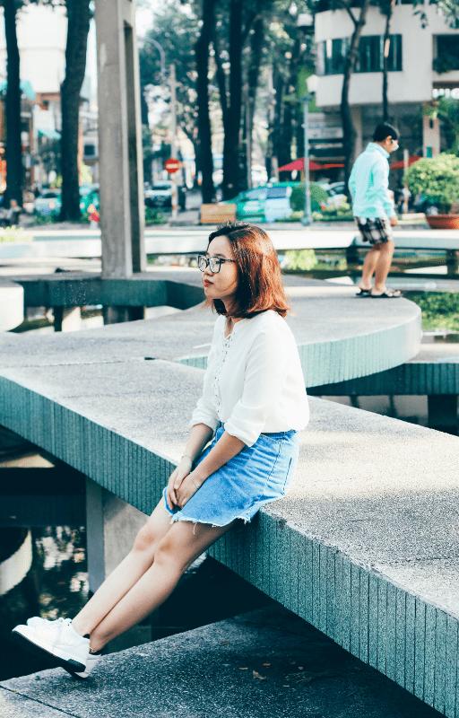a taiwanese woman sitting